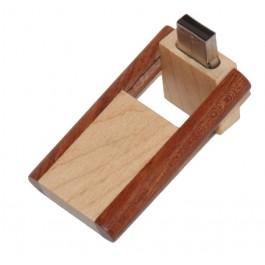Wooden USB stick slide-turn model 2 colors 8GB
