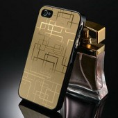 iPhone 4 aluminium case gold