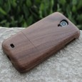 Samsung Galaxy S4 wooden case dark nut